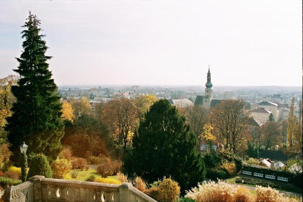 Вид на Баден из беседки Бетховена.  Именно здесь он сочинял свою знаменитую 9 симфонию.  Сб, 03.01.2009 - 18:17) .