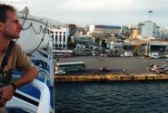 На борту парома, порт Пирей