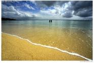 пляж в южной части Бали, курорт Нуса-Дуа