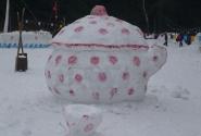 Снежная скульптура - Чашка.