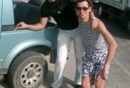 Наше колесо спустило по дороге в Анталию