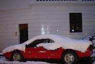 Феррари под снегом