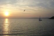 Закат на озере Балатон