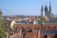 Вид на загребский Кафедральный собор
