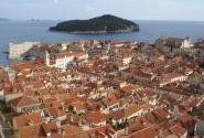 Вид на Дубровник с городской стены
