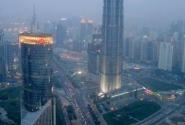 Небоскреб Цзиньмао со смотровой площадки телебашни