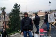 На верхней площадке Испанской Лестницы