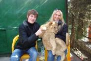 С большим котёнком