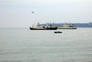 Вид на Пицунду со стороны рыбзавода.