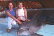 Я, моя коллега и дельфин