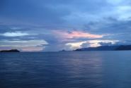 закат в открытьм море