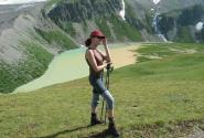 Чегет, озеро, девушка