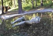 Иматра. Памятник жертвам водопадаа