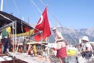 Подъём на яхту