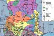 Политическая карта Ганы.
