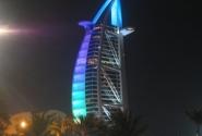Бурдж Аль Араб ночью