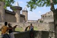 В замке