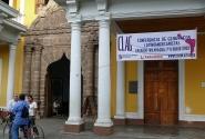 2.В Никарагуа, в городе Гранада, проходит конгресс географов латинской Америки. Заседания проводятся в здании «Трёх миров». Его