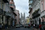 На улицах Кито. На заднем плане – Базилика.