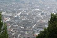 Вид Кито с холма Панесильо. Сам город вытянут узкой полосой с севера на юг.