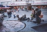 площадь грехов в Дрездене- показаны все основные людские пороки..
