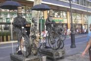Живые скульптуры на рамбла