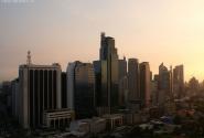 Манила рано утром с крыши 20-тиэтажного отеля