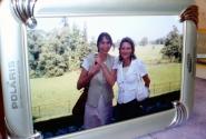 У меня осталась только одна фотография с Сильвианой. Храню ее в рамке на память о поездке в Петергоф.