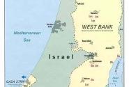 Карта Палестины - видны Иерусалим и Вифлеем (Вethlehem) рядышком.