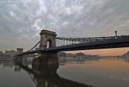 Цепной мост через Дунай.