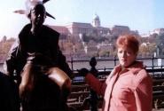 С символом Будапешта.