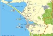 Современная карта Черноморского побережья России