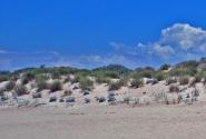 Пляж в дюнах в окрестностях Анапы