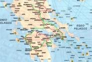 Наш маршрут - зеленая линия. 1860 км по материковой Греции.