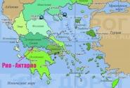 Чтобы сориентироваться - смотрим на карту Греции.