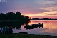 закат на озере Валдай
