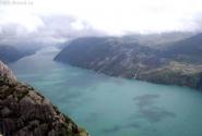Вид на Лисе-фьорд