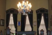 Очень красивое убранство синей комнаты Долмабахче