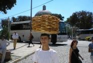 Турецкий продавец бубликов