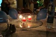 Голубые шарики на столах. Цвет нашей команды.