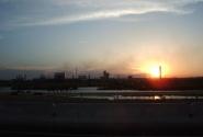 Закат над заводом