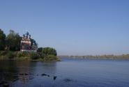 Панорама Волги с церковью Дмитрия на крови