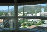 Вид Кемера из лифта отеля