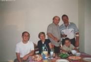 Фото на память. Слева направо - Олег (сын Иоланты и Жоржа), Иоланта, Жорж Хиршман, я, мой сын Сережа. Париж 2000 г.