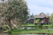 Восстановленная индейская деревня