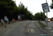 Автобусная остановка в Веруделле