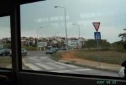 Прямо - в Пулу, направо - объездная вокруг Пулы