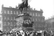 Манежная площадь в 1914 - открытие памятника Николаю Николаевичу