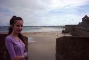 А с друго стороны - океан. Днем - в отливе :)