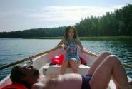 Мы на лодочке катались :)